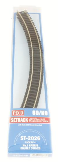 Peco Products ST-2026 2nd radius Double Curve Track (ST-226 x 4)
