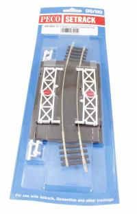 Peco Products ST-263 Curved (No.3 Rad.) Level Crossing, complete with 2 ramps & 4 gates