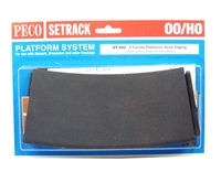 Peco Products ST-292 Setrack curved platform (Brick)
