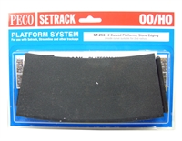 Peco Products ST-293 Setrack curved platform (Stone)