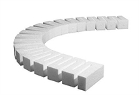 "Woodland Scenics ST1406 Foam Riser For Elevated Track - 0.5"" High - 2.5"" Wide - Pack Of 4"