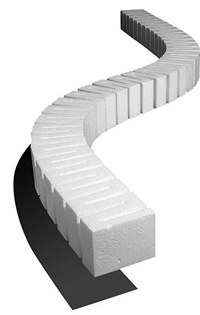 "Woodland Scenics ST1408 Foam Riser For Elevated Track - 2"" High - 2.5"" Wide - Pack Of 4"