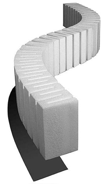 "Woodland Scenics ST1409 Foam Riser For Elevated Track - 4"" High - 2.5"" Wide - Pack Of 2"