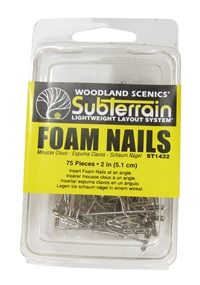 "Woodland Scenics ST1432 2"" nails for foam x 75"