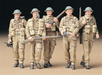 Tamiya 35223 British Infantry on patrol - 5 walking figures in standard ETO uniform