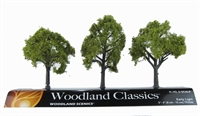 """Woodland Scenics TR3506 3 - 4"""" Early Light (Light) Trees - Pack Of 3"""