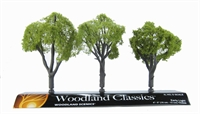 """Woodland Scenics TR3509 4 - 5"""" Early Light (Light) Trees - Pack Of 3"""