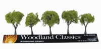 """Woodland Scenics TR3546 1.25 - 2"""" Early Light Trees - Pack of 5"""