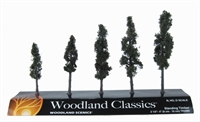 "Woodland Scenics TR3560 2.5 - 4"" Standing Timber (Conifer) Trees - Pack Of 5"