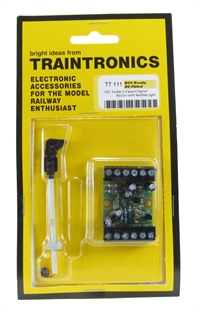 Traintronics TT111 2-aspect red/green signal with feather right c/w