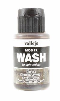 Vallejo VAL76514 Model Wash 35ml - Dark Brown Wash