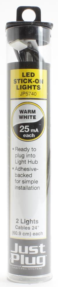 Woodland Scenics WJP5740 Warm white LED stick-on lights for Just Plug lighting system