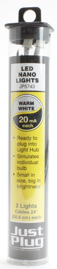 Woodland Scenics WJP5743 Warm white LED nano lights for Just Plug lighting system
