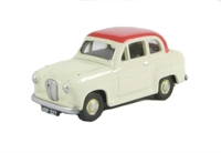 "Pocketbond ""Classix"" EM76851 Austin A30 2-door saloon Off White with red roof"