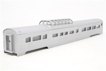 0001-000781-PO 85' Budd Vista Dome Car kit in unlettered silver - Pre-owned - Like new - imperfect box