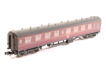 0681-PO05 BR Mk1 Corridor 2nd in Maroon - Pre-owned - Minor chipping on body sides, replacement box £14