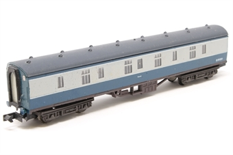 0776Farish-PO04 BR Mk1 Full Brake (BG) Blue & Grey  E81231- Pre-owned - renumbered- - lightly weathered underfame