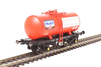 1108 4-wheel B tank 249 in Mobil Charrington fuel oil red livery