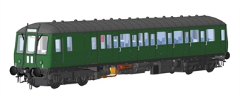 1222 Class 122 single car DMU in BR green with small yellow panels - weathered - (Price is estimated - we will notify you if price rises and offer option to cancel)
