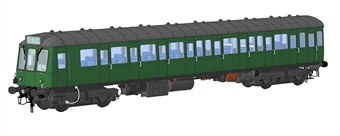1240 Class 149 DMU unpowered trailer car in BR green with speed whiskers - (Price is estimated - we will notify you if price rises and offer option to cancel)