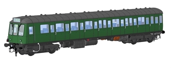 1241 Class 149 DMU unpowered trailer car in BR green with small yellow panels - (Price is estimated - we will notify you if price rises and offer option to cancel)