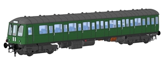 1250 Class 150 DMU unpowered trailer car in BR green with speed whiskers - (Price is estimated - we will notify you if price rises and offer option to cancel)