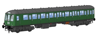 1251 Class 150 DMU unpowered trailer car in BR green with small yellow panels - (Price is estimated - we will notify you if price rises and offer option to cancel)