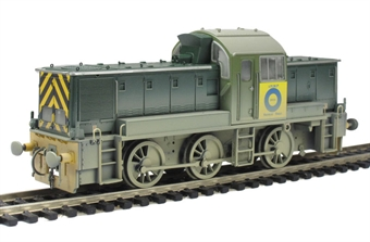 "1405 Class 14 ""Teddy Bear"" (ex British Rail Green) Blue Circle Cement (ex D9526) (Weathered)."