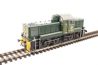 1408 Class 14 D9555 in BR green - last loco built at Swindon works