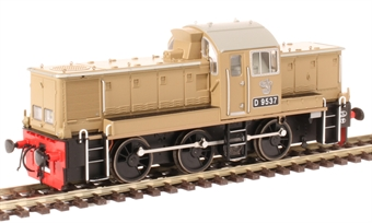 1410 Class 14 D9537 in BR desert sand - as preserved