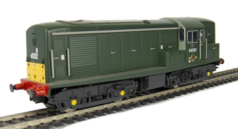 1505 Class 15 D8202 in BR green livery with small yellow panels.