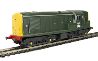 1506 Class 15 diesel electric BTH/Clayton D8235 in BR green livery with full yellow ends.