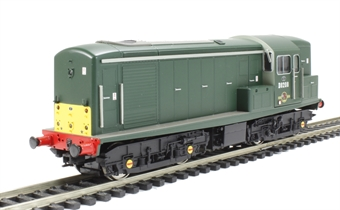 1510 Class 15 D8208 in green with small yellow panels & additional yellow panel on 'B' end