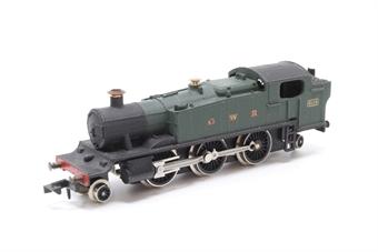 1604Farish-PO14 Class 81xx 2-6-2 8106 in GWR Green - Pre-owned - broken coupling - imperfect box