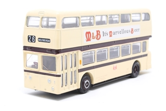 "16509-PO03 Leyland Atlantean d/deck bus ""Leicester"" - Pre-owned - Like new, imperfect box £5"