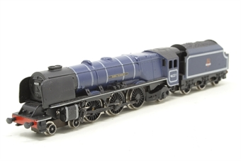 1817Farish-PO Duchess Class 4-6-2 46221 'Queen Elizabeth' in BR Blue - Pre-owned - loose tender body - imperfect box