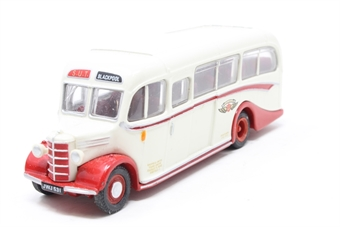 """20113-PO08 Bedford OB/Duple - """"Sheffield United Tours"""" - Pre-owned - imperfect box"""