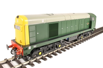 2011 Class 20 in BR green with full yellow ends and 4-character headcodes