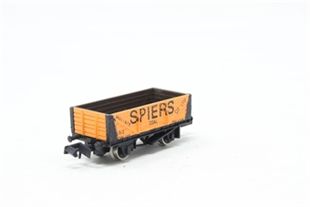 2012Farish-PO03 5 Plank Wagon 'Spiers' - Pre-owned - Like new