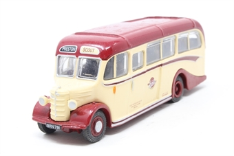 """20133-PO03 Bedford OB/Duple 1950's coach """"Scout"""" - Pre-owned - Like new"""