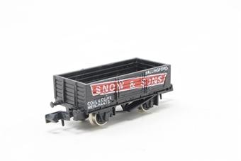 2013Farish-PO03 5 Plank Wagon 'Snow' - Pre-owned - Like new