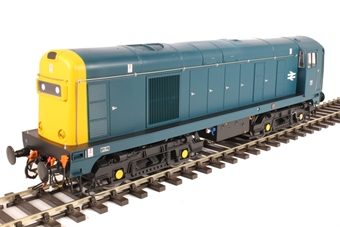 2013 Class 20 in BR blue with full yellow ends; TOPS style with double arrows on the bodysides and 'domino' headcodes