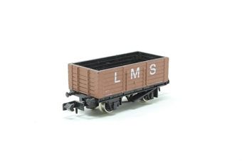 2101Farish-PO05 6 Plank Wagon 'LMS' - Pre-owned - Like new