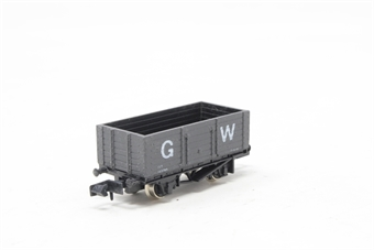 2104Farish-PO 6 Plank Open Wagon in GWR Dark Grey - Pre-owned - Like new