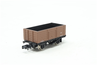 2105Farish-PO03 6 Plank Wagon 'BR' - Pre-owned - Like new