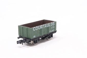 2132Farish-PO 6 Plank Wagon 'Courtaulds' - Pre-owned - Like new