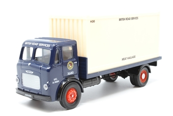 """25101Corgi-PO01 Leyland 4 wheel flatbed with container """"British Road Services"""" Limited editon - Pre-owned - Like new"""