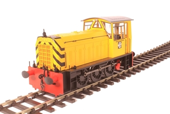 2594 Class 05 shunter No.2 in CEGB yellow livery with wasp stripes