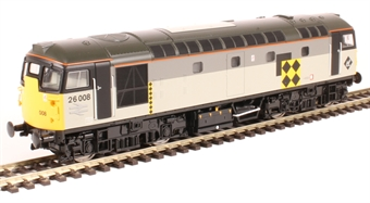 2655 Class 26/0 26008 in BR railfreight coal sector grey
