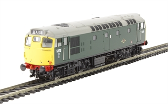 2713 Class 27 5370 in BR green with full yellow ends (no boiler tanks)